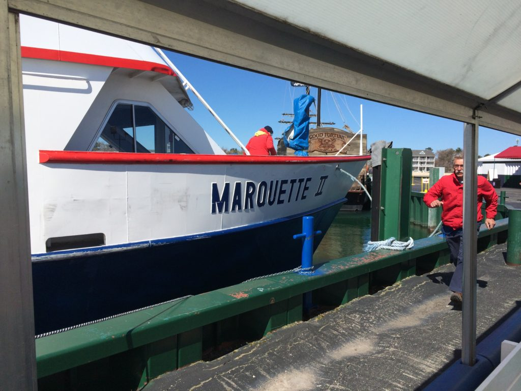 Star Line Ferry loading at Mackinaw City
