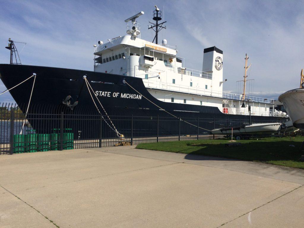 State of Michigan training ship at Traverse City Michigan
