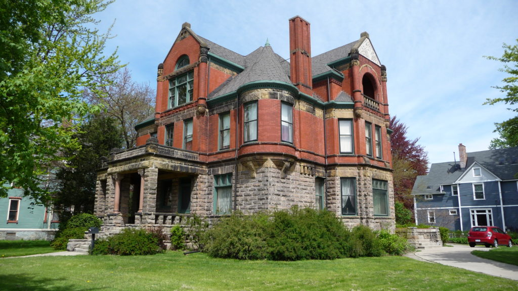 Brick Queen Anne Historic home in Bay City Michigan