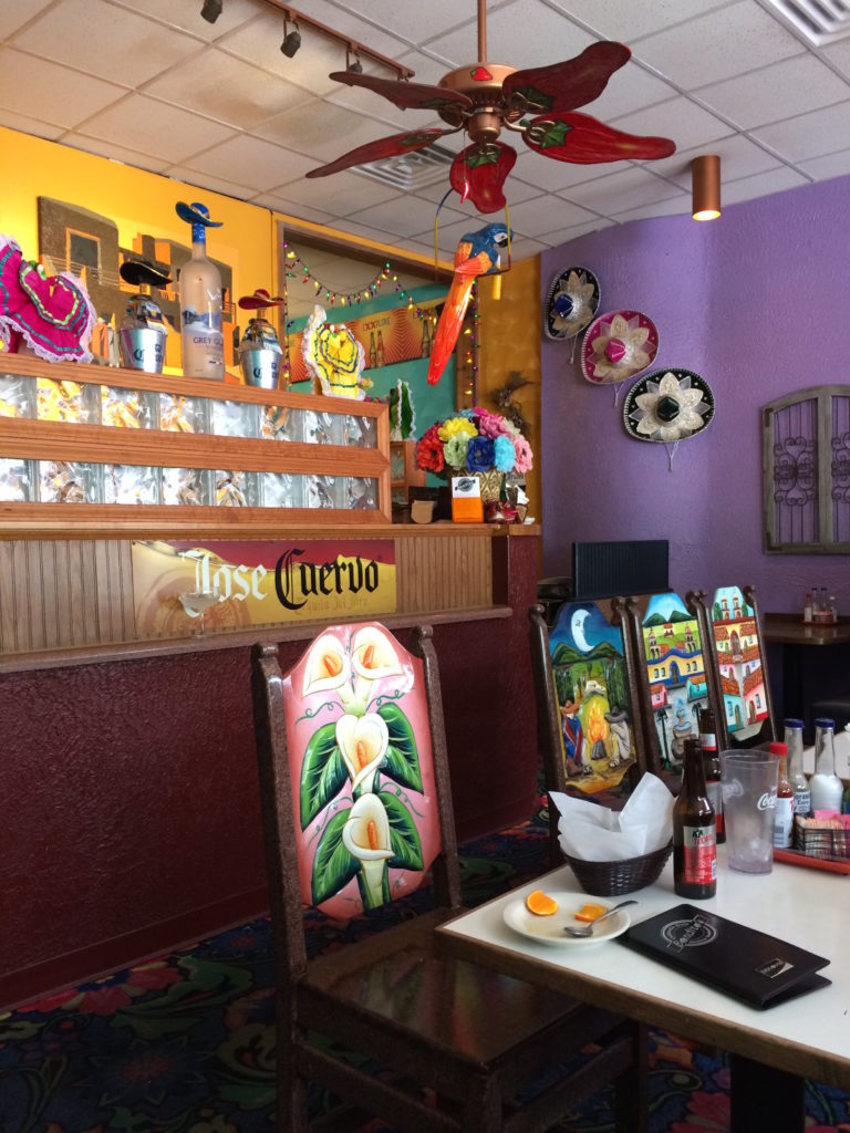Interior of Bandito's Restaurant at Ann Arbor MI