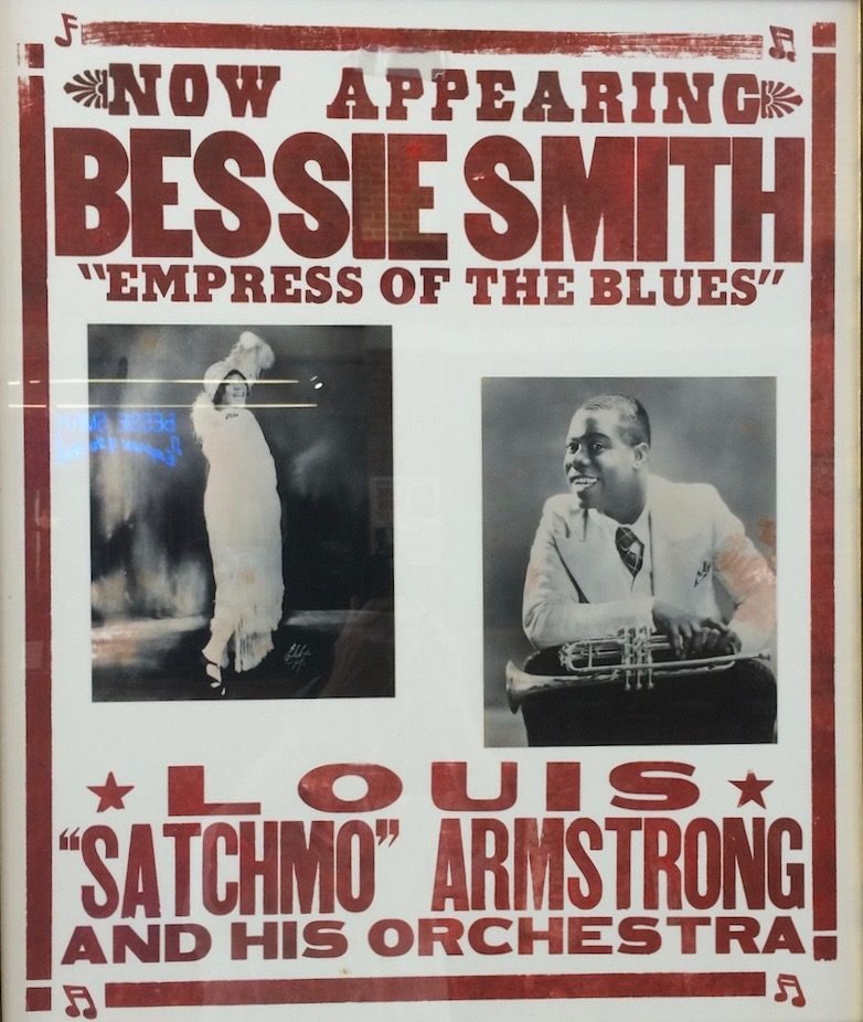 Bessie Smith poster with Louis Armstrong