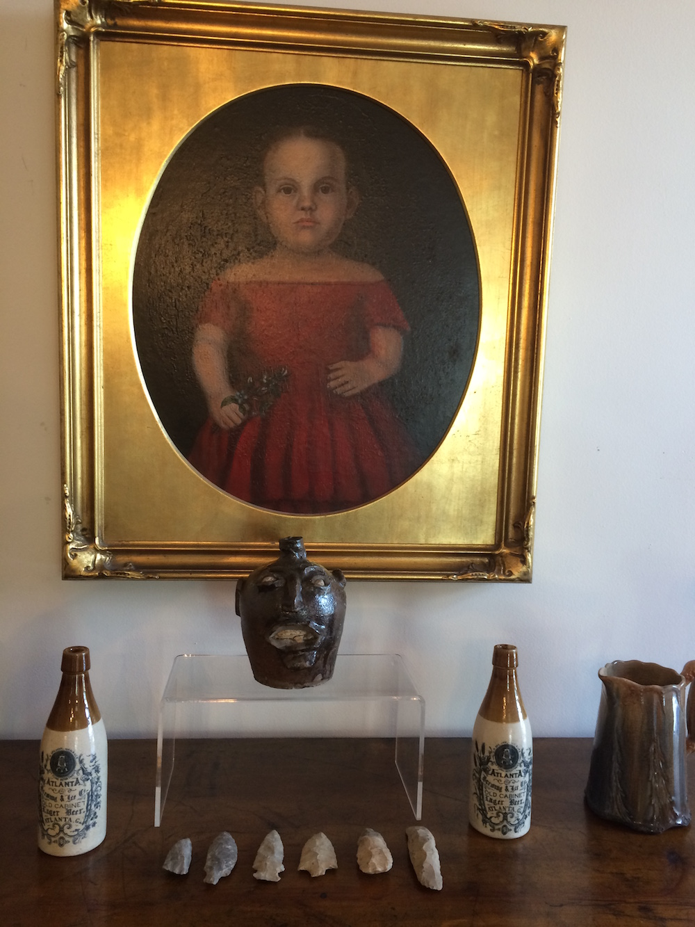 Arrowheads and antique bottles