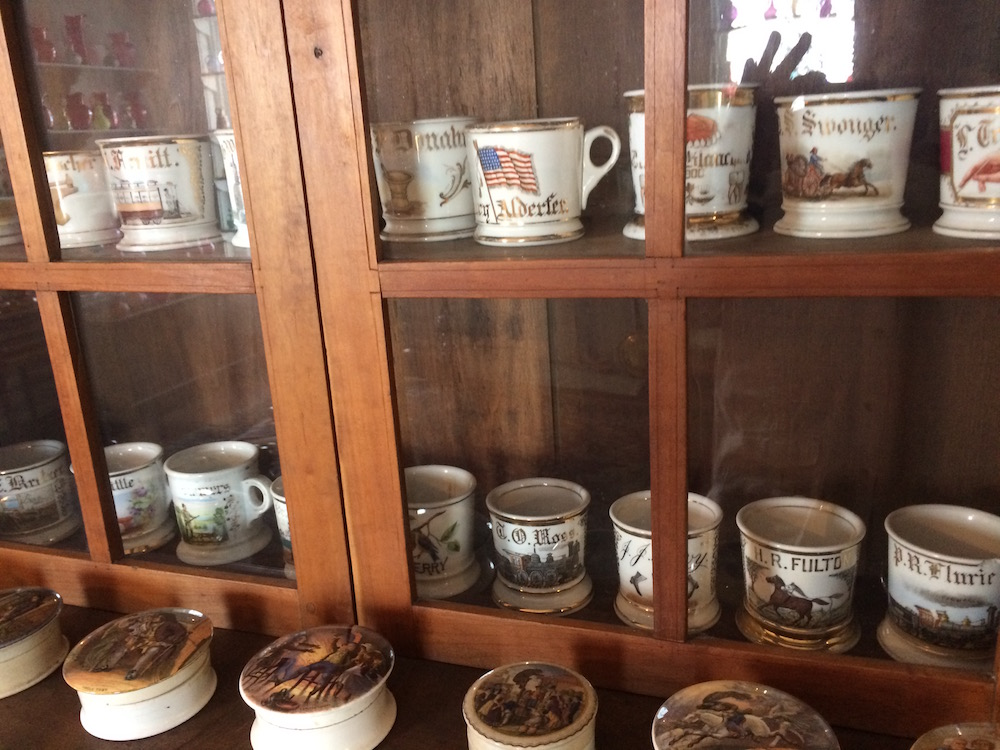 Antique personalized shaving mugs