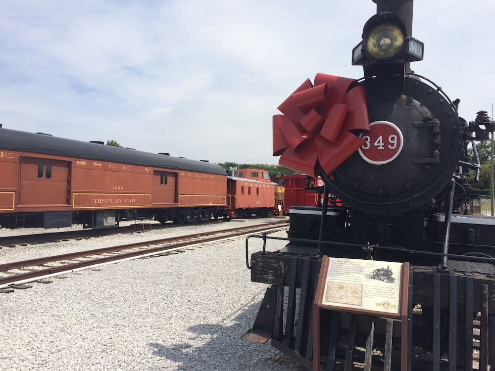 The train yard at the Tennessee Valley Railroad