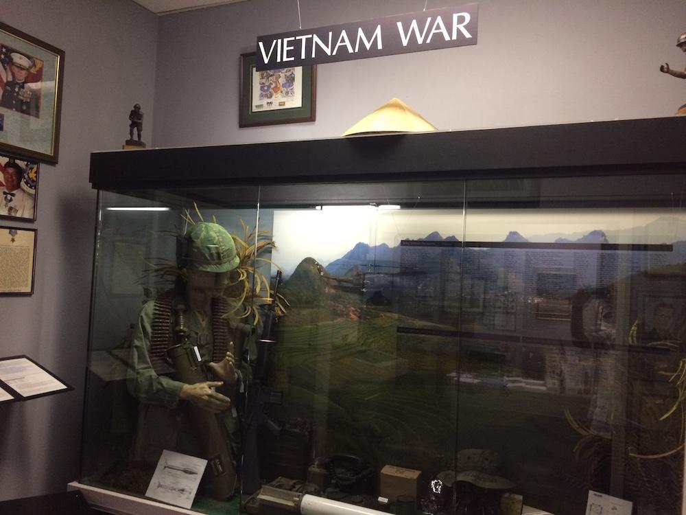 Vietnam War exhibit at Coolidge Museum